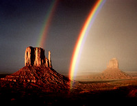 Double Rainbow, Monument Valley Navajo Tribal Park, Arizona